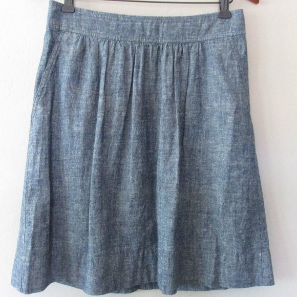 NWT Eileen Fisher Hemp Organic Cotton Denim Chambray D//S Ankle Pants $178 S
